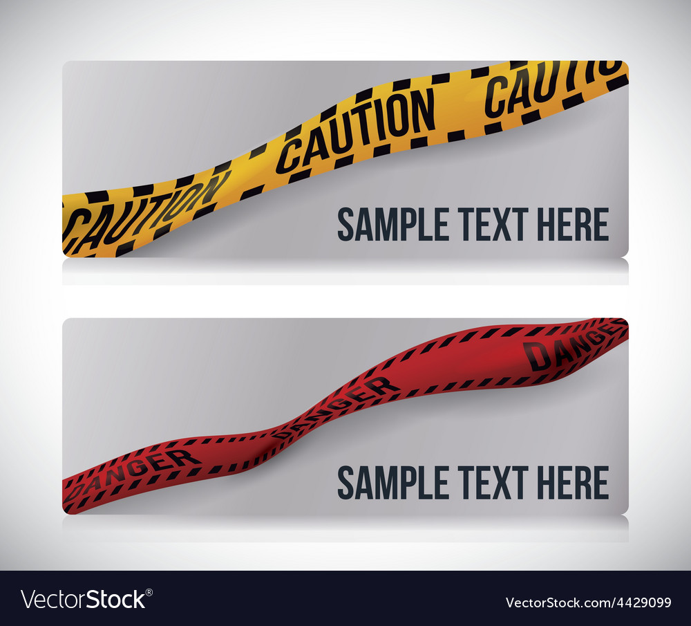 Yellow tape design vector | Price: 1 Credit (USD $1)