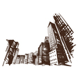 City hand drawn vector