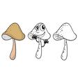 Three mushrooms vector