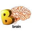 A letter b for brain vector