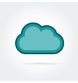 Cloud icon isolated on white background vector