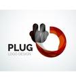 Abstract logo - plug icon vector
