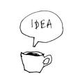 Coffee cup idea vector