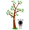 Tree and zebra vector