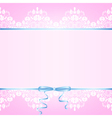 Pink background with white lace vector