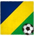 Brazil soccer old background vector