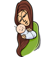 Mother with baby cartoon vector