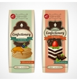 Sweets retro banners vertical vector