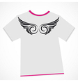 T-shirt design - wings vector