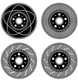 Brake disc black symbols vector