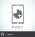 Eye phone symbol icon vector
