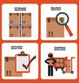 Warehouse vector