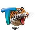 A roaring tiger vector