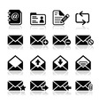 Email mailbox icons set vector