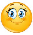 Eyelashes emoticon vector