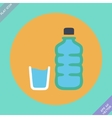 Set of water bottle and amp - vector
