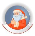 Santa with copy space logo vector