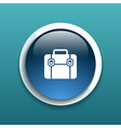 Briefcase icon flat design style vector