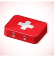 Medical box red health kit icon vector