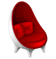 A red furniture vector