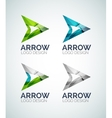 Arrow logo design made of color pieces vector