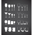 Glass silhouettes vector