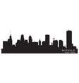 Buffalo new york detailed city silhouette vector