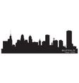 Buffalo new york detailed city silhouette vector