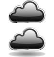 Black cloud icon vector