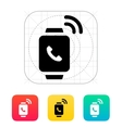 Incoming call on smart watch icon vector