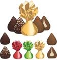 Truffle chocolate candies vector