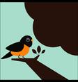 Little bird on the tree vector
