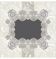 Ornate vintage template with floral background vector