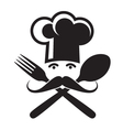 Spoon fork and chef vector
