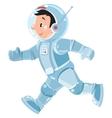 Funny boy cosmonaut or astronaut vector