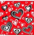 Pattern hearts 2 vector