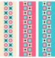 Set of seamless patterned borders in retro colors vector