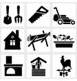 Garden icon vector