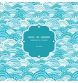 Abstract blue waves frame seamless pattern vector