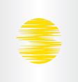 Sun stylized abstract energy icon alternative vector