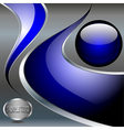 Abstract technology metallic background with blue vector
