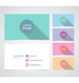 Set of business cards with color vector