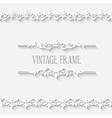 Vintage border white frame vector