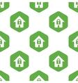 Locked house pattern vector