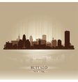 Buffalo new york skyline city silhouette vector