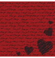 Valentines scrapbooking card vector