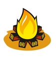 Fire on a white background vector