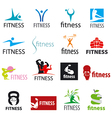 Set of logos fitness and sports vector