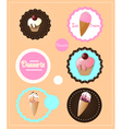 Desserts icons vector