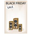 Audio speaker shouting word black friday sale vector
